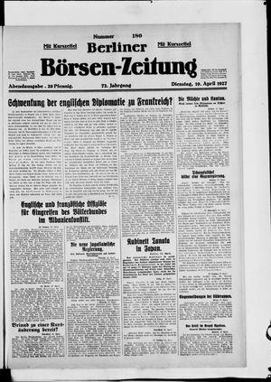 Berliner Börsen-Zeitung vom 19.04.1927