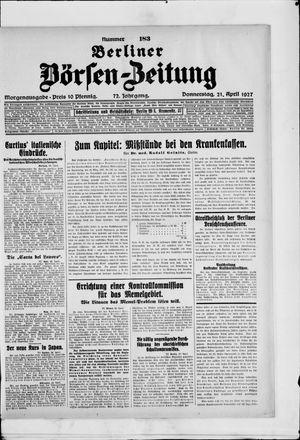 Berliner Börsen-Zeitung vom 21.04.1927
