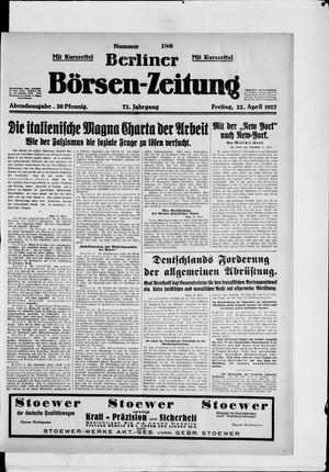 Berliner Börsen-Zeitung vom 22.04.1927