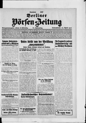 Berliner Börsen-Zeitung vom 23.04.1927