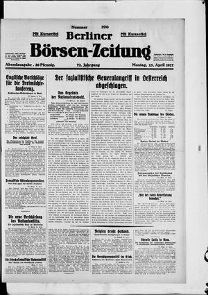 Berliner Börsen-Zeitung vom 25.04.1927