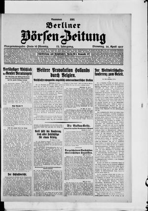 Berliner Börsen-Zeitung vom 26.04.1927