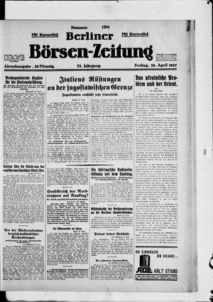 Berliner Börsen-Zeitung vom 29.04.1927