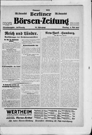 Berliner Börsen-Zeitung on May 2, 1927