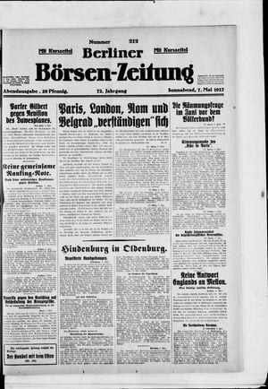 Berliner Börsen-Zeitung vom 07.05.1927