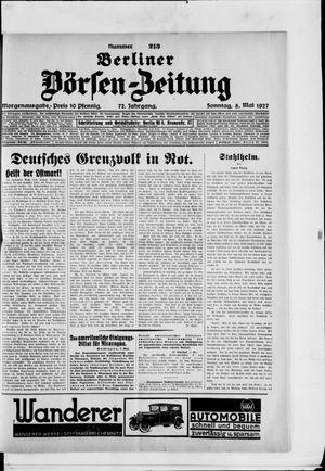 Berliner Börsen-Zeitung vom 08.05.1927