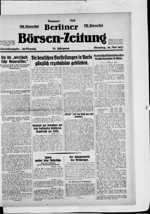 Berliner Börsen-Zeitung vom 10.05.1927