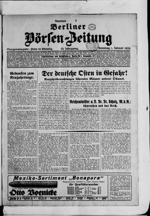 Berliner Börsen-Zeitung vom 01.01.1928
