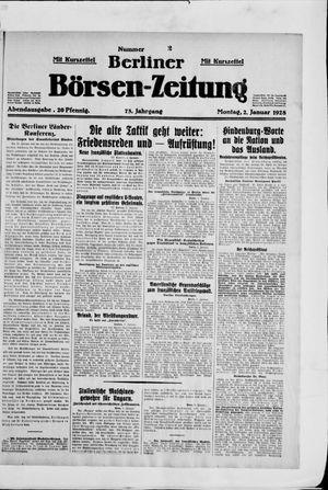 Berliner Börsen-Zeitung vom 02.01.1928