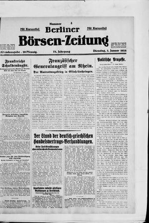 Berliner Börsen-Zeitung vom 03.01.1928