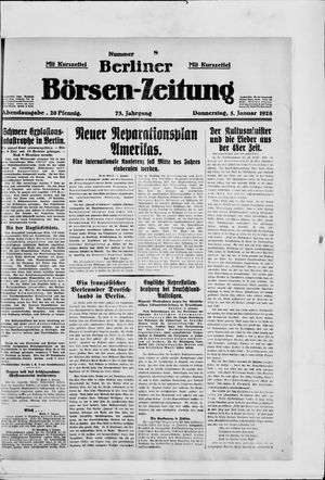 Berliner Börsen-Zeitung vom 05.01.1928