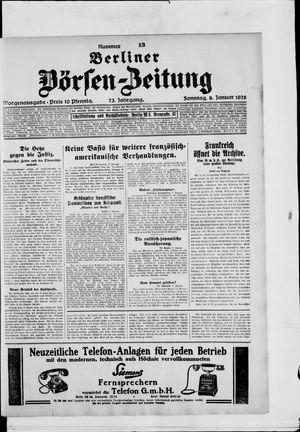 Berliner Börsen-Zeitung vom 08.01.1928