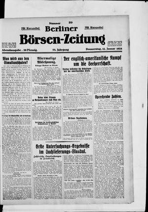 Berliner Börsen-Zeitung on Jan 12, 1928