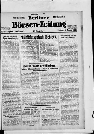 Berliner Börsen-Zeitung vom 13.01.1928