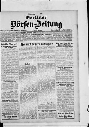 Berliner Börsen-Zeitung vom 14.01.1928
