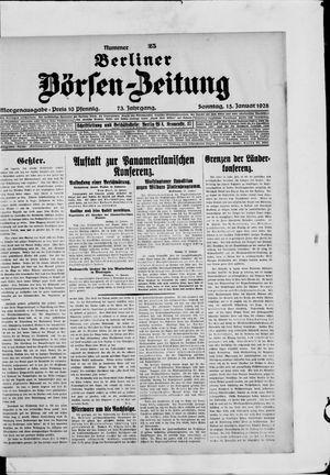 Berliner Börsen-Zeitung on Jan 15, 1928