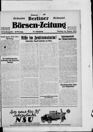 Berliner Börsen-Zeitung on Jan 16, 1928