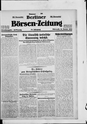 Berliner Börsen-Zeitung vom 18.01.1928