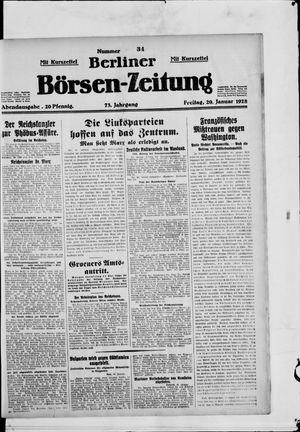 Berliner Börsen-Zeitung vom 20.01.1928