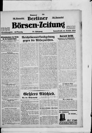 Berliner Börsen-Zeitung vom 21.01.1928