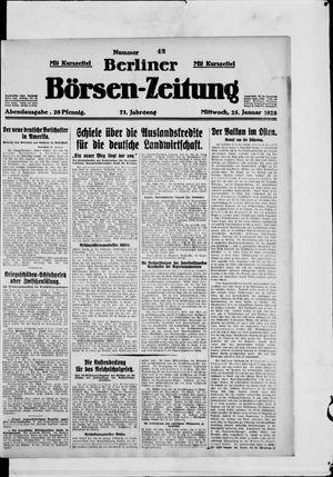 Berliner Börsen-Zeitung vom 25.01.1928