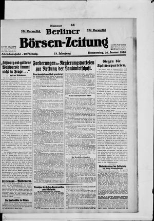 Berliner Börsen-Zeitung vom 26.01.1928