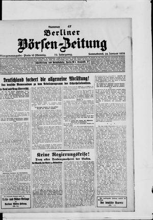 Berliner Börsen-Zeitung vom 28.01.1928