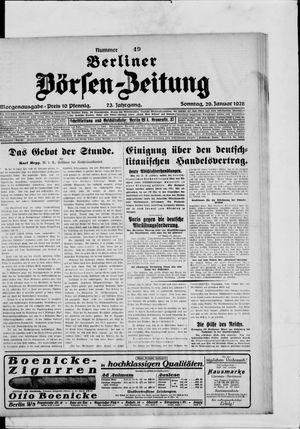 Berliner Börsen-Zeitung vom 29.01.1928