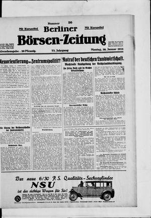 Berliner Börsen-Zeitung vom 30.01.1928