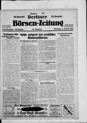 Berliner Börsen-Zeitung vom 31.01.1928