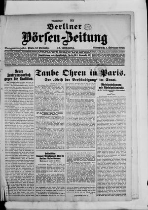 Berliner Börsen-Zeitung vom 01.02.1928