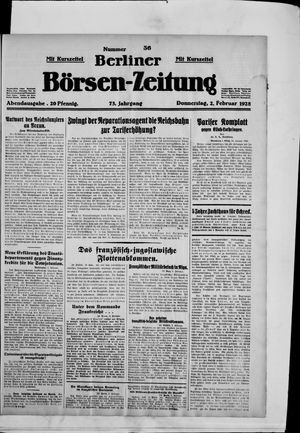 Berliner Börsen-Zeitung vom 02.02.1928