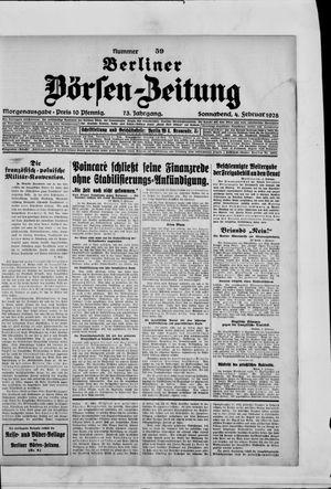 Berliner Börsen-Zeitung vom 04.02.1928