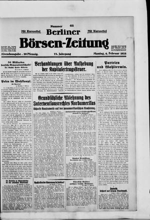Berliner Börsen-Zeitung vom 06.02.1928