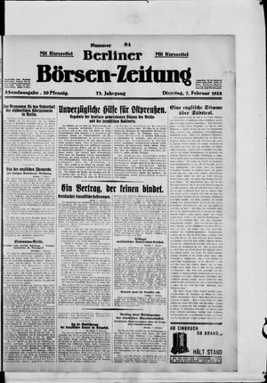 Berliner Börsen-Zeitung vom 07.02.1928