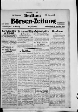 Berliner Börsen-Zeitung vom 09.02.1928