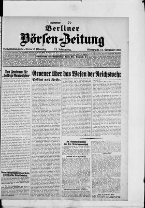 Berliner Börsen-Zeitung vom 15.02.1928
