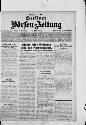 Berliner Börsen-Zeitung vom 17.02.1928