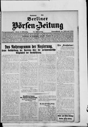 Berliner Börsen-Zeitung vom 18.02.1928