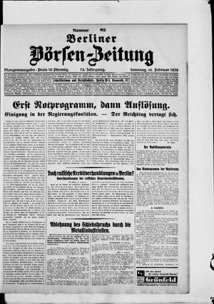 Berliner Börsen-Zeitung vom 19.02.1928