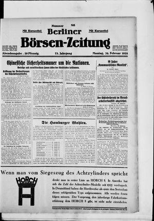 Berliner Börsen-Zeitung vom 20.02.1928
