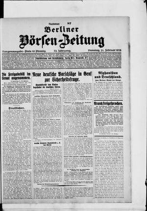 Berliner Börsen-Zeitung vom 21.02.1928