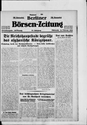 Berliner Börsen-Zeitung vom 22.02.1928