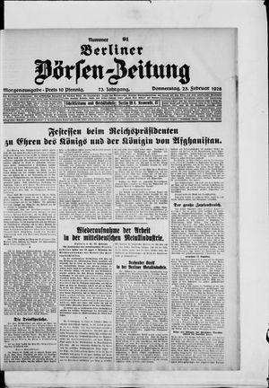 Berliner Börsen-Zeitung vom 23.02.1928