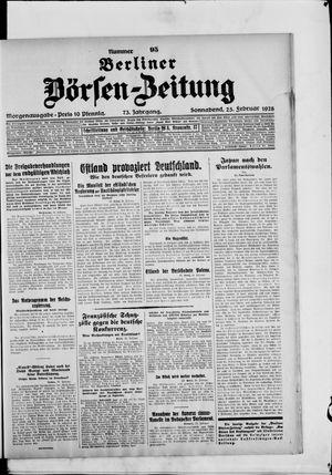 Berliner Börsen-Zeitung on Feb 25, 1928