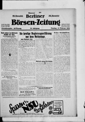 Berliner Börsen-Zeitung vom 27.02.1928
