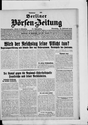 Berliner Börsen-Zeitung vom 28.02.1928