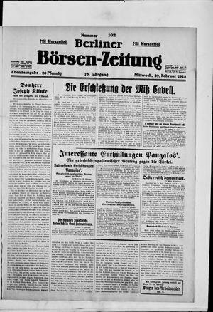 Berliner Börsen-Zeitung vom 29.02.1928