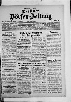 Berliner Börsen-Zeitung on Mar 1, 1928