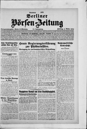 Berliner Börsen-Zeitung vom 02.03.1928